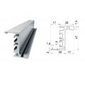 Алюминиевая дверная коробка HAG AF-040 без установочного профиля