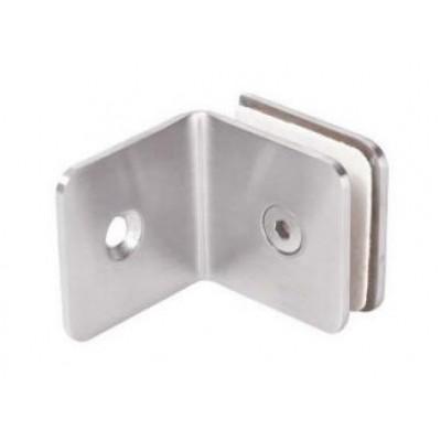 """Коннектор """"стена-стекло"""" HAG - 633 SSS (матовая нержавеющая сталь)"""