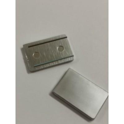 Торцевая заглушка для П-образного профиля 19х13х19 для стекла 8 мм
