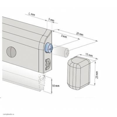 Дверной накладной автоматический порог Domatic Blister DA3062