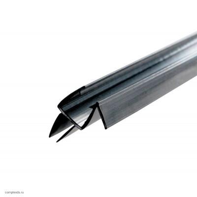 Профиль уплотнительный PS-7-8 для стекла 8 мм с водоотливом черный