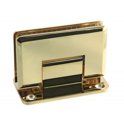 Петля золотая стена-стекло с центральным (двусторонним) креплением SHT-C Gold