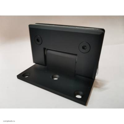 Петля черная стена-стекло с односторонним креплением SHT-C3 Black латунь