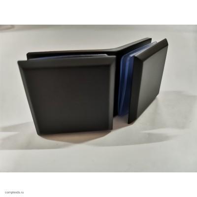 Коннектор стекло-стекло 135° черный GC135-C2 Black