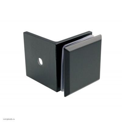 Коннектор стена-стекло 90° черный GC90-C1 Black
