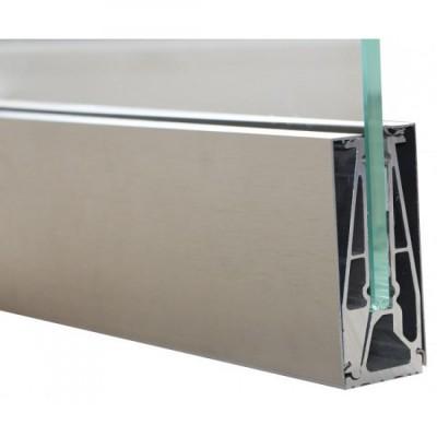Профиль зажимной KDC 100мм, крышка нержавеющая сталь SSS