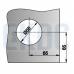 Замок угловой/центральный для стеклянной двери  с ответной частью на стену LHL-034