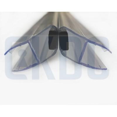 Профиль магнитный уплотнительный PS-9-8 для стекла 8 мм 2.2 м угол 135 градусов