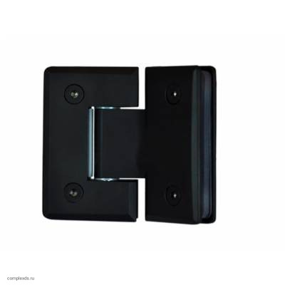 Петля стекло-стекло черная угол поворота 135 градусов SH135-С латунь