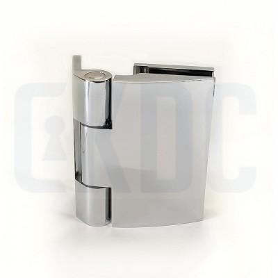 Петля для стеклянной двери на дверную коробку без реза уплотнителя SH-S27 SSS