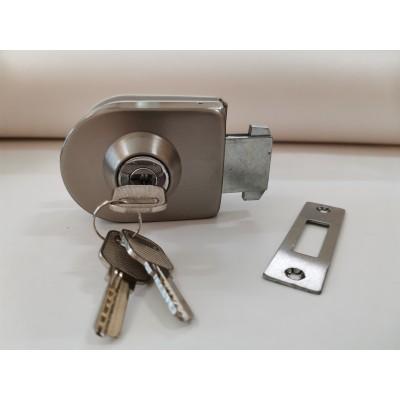 Замок LHL-049 для одностворчатой раздвижной двери с ответной частью на стену