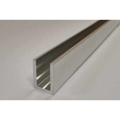 П-образный алюминиевый профиль Bohle 19x13x19x2 полированный хром L=3650 мм для стекла 8 мм