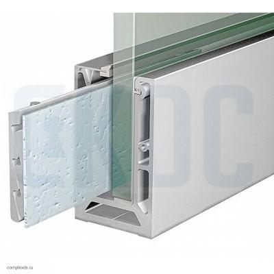 Профиль для стеклянных ограждений T-102 AL КОМПЛЕКТ (анод)