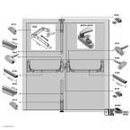 Система антипаника Panama (Fapim) с тремя точками запирания для двустворчатых дверей