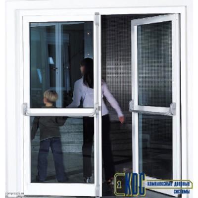 Комплект антипаники DORMA PHA2000 для двустворчатой двери, серый