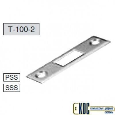 Ответная пластина Т-100-2 для замка с прямоугольным ригелем