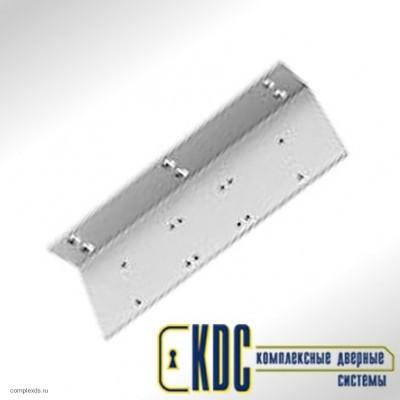 Угловая монтажная пластина для скользящего канала G-N  (с отделкой - нержавеющая сталь)